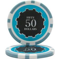 50pcs Eclipse Poker Chips $50