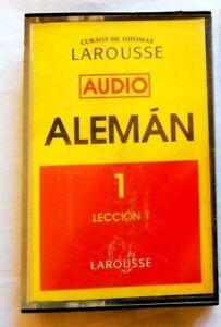 Curso De idiomas Larousse Aleman 1 Cinta Cassette Lecciones 1