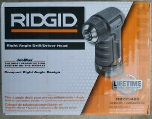 NEW RIDGID 12-18 VOLT JOBMAX RIGHT ANGLE DRILL HEAD R8223402 NEW IN BOX
