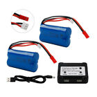 2Pcs 7.4V 1500mAh Li-ion Battery with JST Plug for FT007 RC Car Boat Helicopter