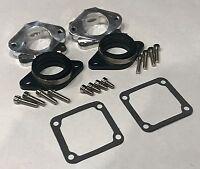 Billet Intake Manifolds Kit 38 39 41 Dual Carbs Carburetors Yamaha Banshee 350