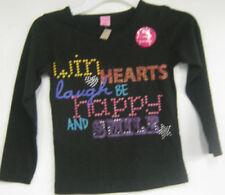 T-shirts et débardeurs noir manches longues 6 ans pour fille de 2 à 16 ans