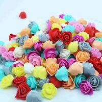 500Pcs Artificial PE Foam Rose Head Flower for DIY Bear Doll Wedding Home Decor