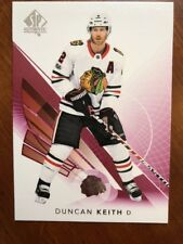 2017-18 UD Hockey SP Authentic Red Parallel #9 Duncan Keith