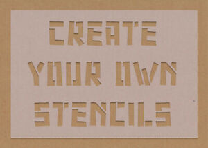 Custom Design Your Own Word Stencil Personalised Create Your Own Crafting DIY