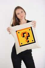 Super Mario Brothers Question Mark Block naturel imprimé épaule sac fourre-tout