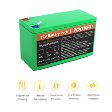 12v 7ah Battery Pack Deep Cycle 10A Rechargeable Li-ion Battery Bms Ups+Charger