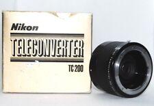 【 NEAR MINT 】 NIKON TC 200 Teleconverter 2X Lens Boxed From Japan