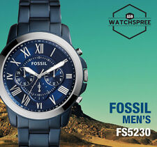 Fossil Grant Chronograph Blue Tone Stainless Steel Men's Watch FS5230