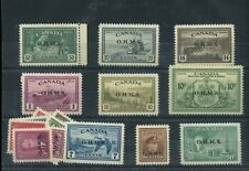 OHMS overprint Peace issue lot $1.00 and 7c MH, rest MNH Cat $500+ Canada mint