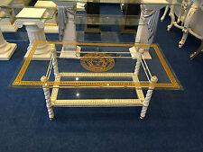 Couchtisch Glastisch Säulen griechische Tische medusa Barock Kunstharz 6024 k108