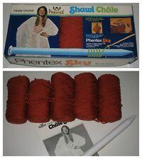 Vintage Phentex Sky Crochet Shawl Kit Set Yarn Needle Pattern Instructions Box