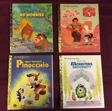 Little Golden Books Disney Lion King Pinocchio Wreck It Ralph Monsters Lot of 4
