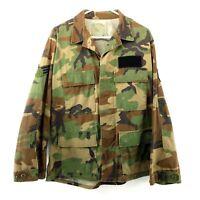 Military Woodland Camouflage Jacket Men's BDU Size Medium Short