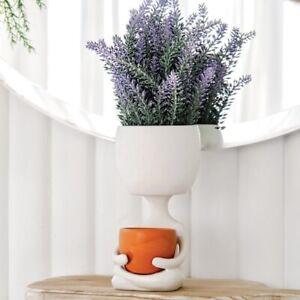 Lotus Pose Planter Tealight Holder Handmade Ceramic Hamptons Coastal Home Decor