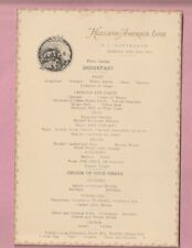 Holland America shipping line Breakfast menu, S.S. Rotterdam. 1923