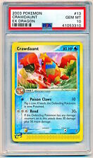 2003 Pokemon EX Dragon Crawdaunt Non-Holo Rare #13/97 PSA 10 - POP 2