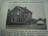ephemera 1971 picture advert 18 hardy's road cleethorpes