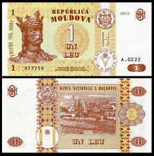 Europe - Moldova 1 Lei Paper Money,2013,P-8, Uncirculated .1Pieces