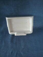 Vintage Art Deco Ceramic White Wall Mount Soap Dish Holder