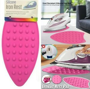 Silicone Iron Rest Pad Heat Resistant Mat Mini Ironing Board Protector R2616 UK