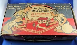 Plasticville - O/S #JC-3 Build A Fence - Rare HTF - Box - Complete - Excellent
