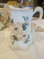 **ON SALE** Clinchfield Artware Pottery Pitcher Handpainted Dogwood Flowers