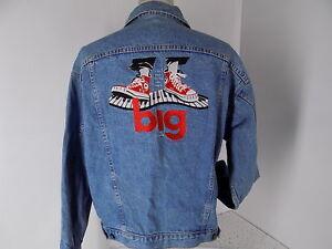 Vintage Denim Jacket, Size Large, USA made, Big The Musical (1996) VGUC