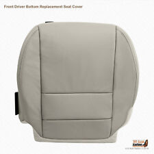 2007 - 2012 Acura MDX - Front DRIVER Bottom Replacement Leather Seat Cover GRAY