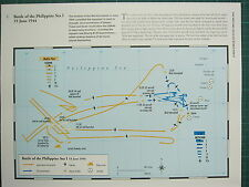 WW2 WWII MAP ~ BATTLE OF THE PHILIPPINE SEA I 19 JUN 1944 AERIAL MOVEMENTS