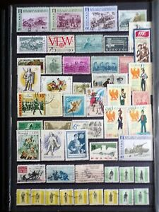 COLLECTION OF THEMED STAMPS: MILITARY SOLDIERS WAR