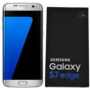 BNIB Samsung Galaxy S7 Edge SM-G935F 32GB Silver Factory Unlocked 4G/LTE Simfree