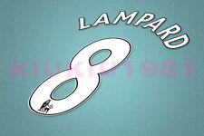 Chelsea Lampard #8 PREMIER LEAGUE 07-13 White Name/Number Set