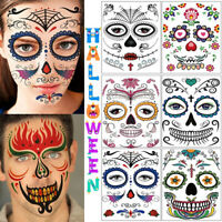 Waterproof Makeup Decoration Art Temporary Tattoo Halloween Face Sticker Undead