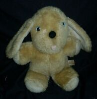 VINTAGE 1983 COMMONWEALTH MUSICAL WIND UP TAN PUPPY DOG STUFFED ANIMAL PLUSH TOY