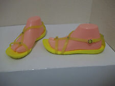 CROCS WOMENS SUNSHINE YELLOW REALLY SEXI STRAPPY GLADIATOR SANDALS SZ 8 CUTE!