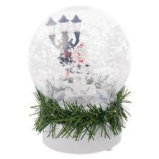 cc43edae1c1 White Musical LED Christmas Santa Snow Globe Xmas Home Decoration Glittered  Ball