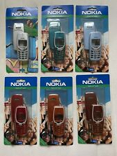Nokia 3310 3330: 6 Xpress-on Covers - Vibrant Orange SKR-169, Fluid Aqua SKR-168