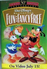 FUN AND FANCY FREE - 1997 DISNEY CAST MEMBER 50 ANNV MOVIE RELEASE PROMO BUTTON
