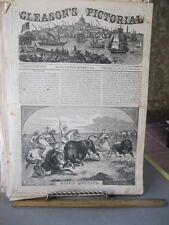 Vintage Print,BISON HUNTING,Gleasons,1854
