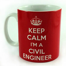 NEW KEEP CALM I'M A CIVIL ENGINEER GIFT MUG CUP AND CARRY ON PRESENT RETRO FUN