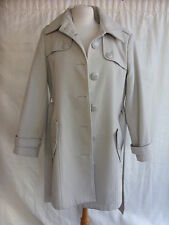 Ladies Coat - Wardrobe, size 16, cream/beige, belted, lined, button - 0376