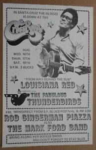 ORIGINAL FABULOUS THUNDERBIRDS LOUISIANA RED 1978 POSTER CROSSROADS SANTA CRUZ