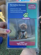 """TOP PAW PET SAFETY HARNESS X-SMALL GIRTH 12""""-18"""" BLACK Car Auto Automobile Dog"""