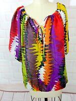 Trina turk Silk short sleeve  Blouse M