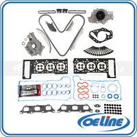 Fit 02-06 Chrysler Dodge 2.7L Timing Chain Kit Head Gasket Bolt Oil Water Pump