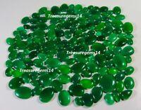 250 Cts Wholesale Lot Natural Jadeite Jade Color Green Onyx  Cabochon  Gemstone