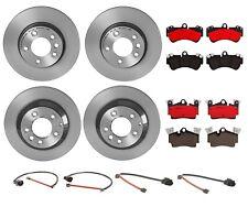 Front & Rear Full Brembo Brake Kit Disc Rotors Ceramic Pads For Porsche Cayenne