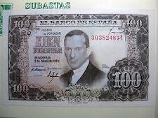 Billete de 100 Pesetas 1953 Julio Romero de Torres  (SC-)  ERROR FIRMA CAJERO