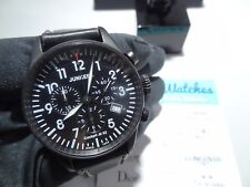Junkers 6182-2 Cockpit ju-52 Mens Watch Chrono Black PVD